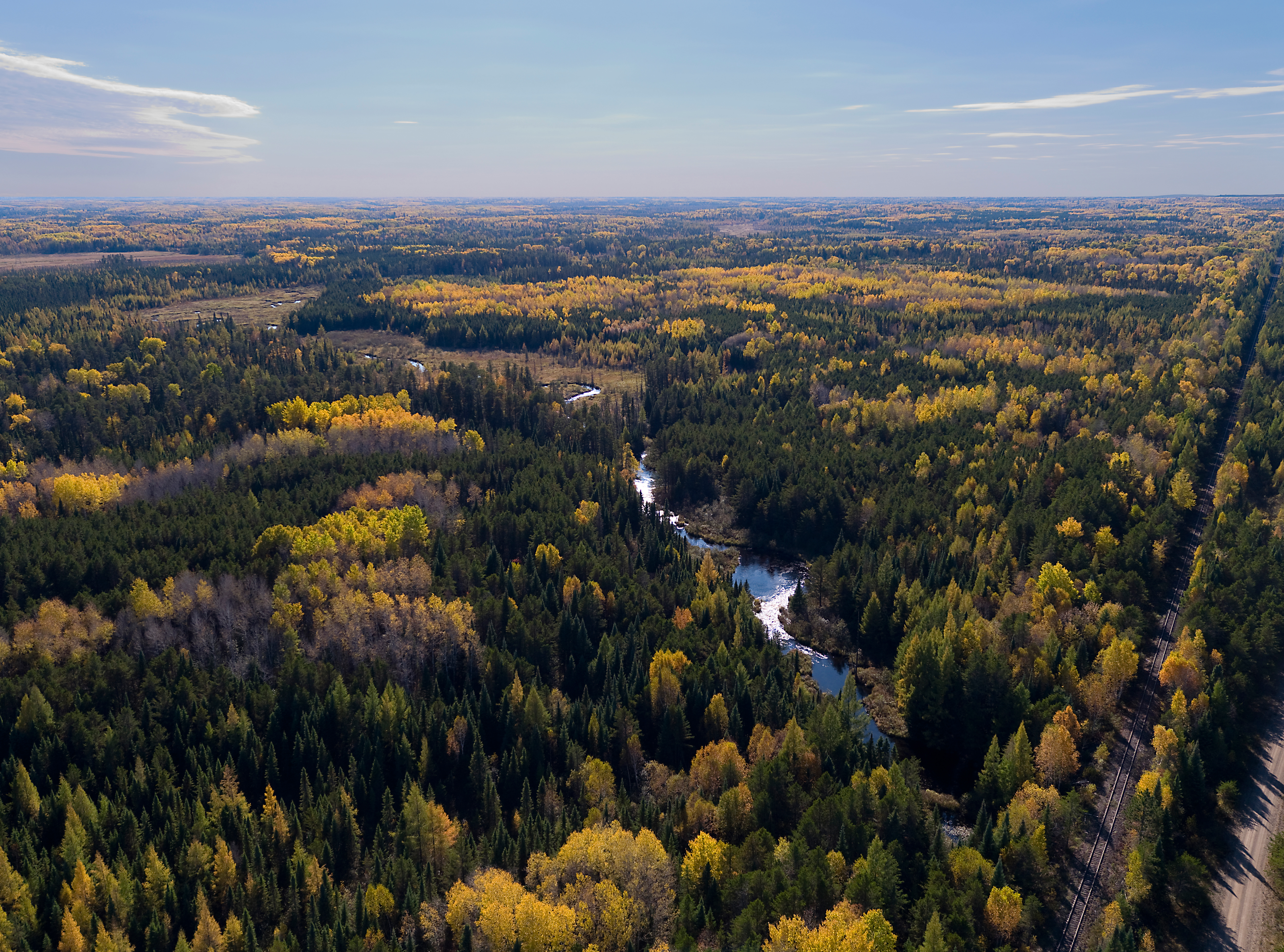 Partridge River in the area of PolyMet's proposed open pit mine. Photo Credit: Rob Levine
