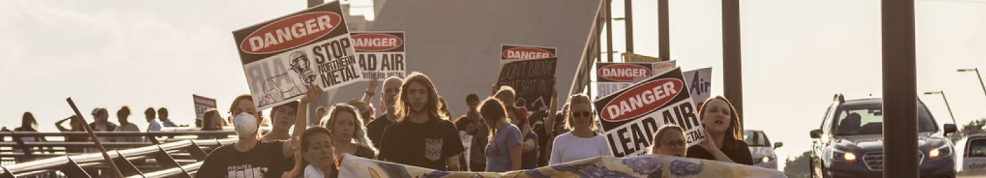 Protest on Lowry Avenue Bridge