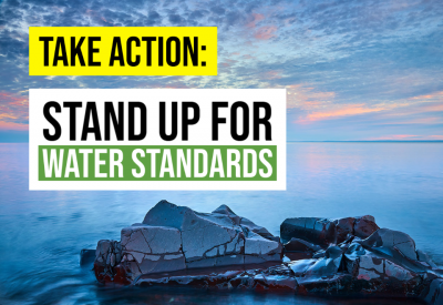 Stand up for water standards
