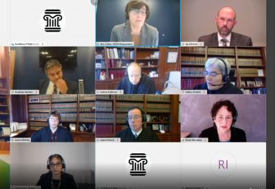 image from virtual supreme court oral arguments