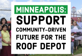 Minneapolis: Support Community-driven Future for the roof depot