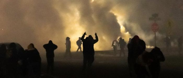 Image of tear gas in Brooklyn Center. Credit: Newsweek